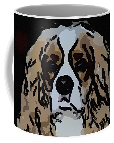King Charles Coffee Mug featuring the photograph Cavalier Spaniel by Dale Powell