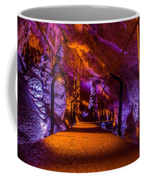 Stalactite Cave Coffee Mug featuring the photograph Cave Bridge by Mark Perelmuter