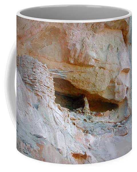 Cave Coffee Mug featuring the photograph Cave Dwelling Where Pictograms Were Found by George Pedro