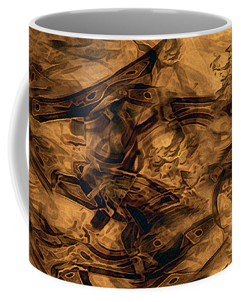Abstract Coffee Mug featuring the painting Cave Painting by RC DeWinter
