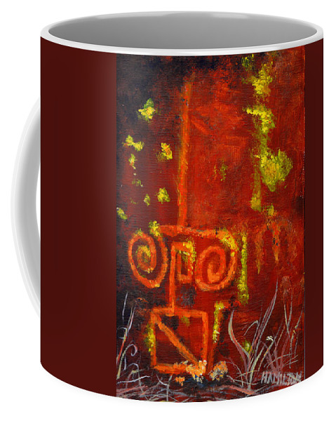 Cave Paintings Coffee Mug featuring the painting Cave Painting by Sarah Hamilton