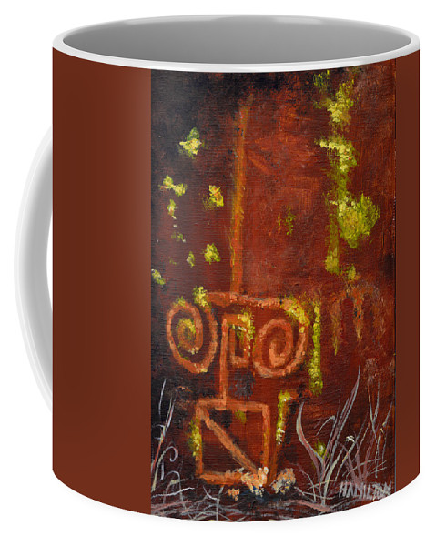 Cave Paintings Coffee Mug featuring the painting Cave Painting -unretouched by Sarah Hamilton
