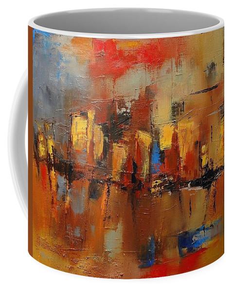 Cefalu Coffee Mug featuring the painting Cefalu by Elise Palmigiani