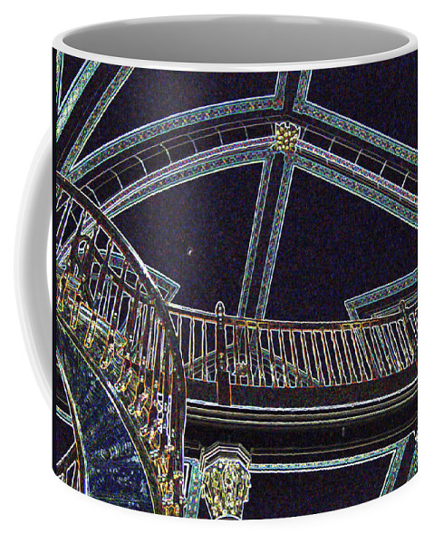 Loretto Chapel Coffee Mug featuring the digital art Ceiling In Lights by Lovina Wright