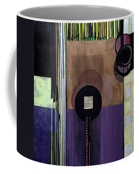 Abstract Coffee Mug featuring the painting Celadons by Marlene Burns