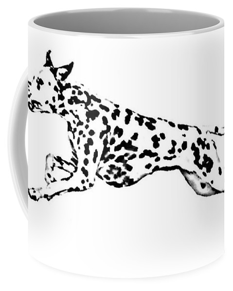 Dogs Coffee Mug featuring the drawing Celebrate by Jacki McGovern