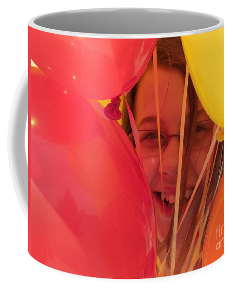 Balloons Coffee Mug featuring the photograph Celebrating by Ann Horn