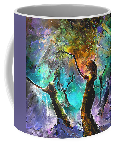 Miki Coffee Mug featuring the painting Celebration Of Life by Miki De Goodaboom