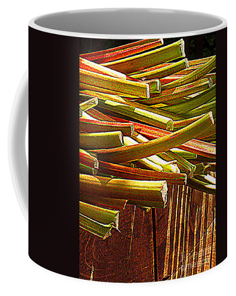 Vegetables Coffee Mug featuring the photograph Celery In The Sun by Miriam Danar