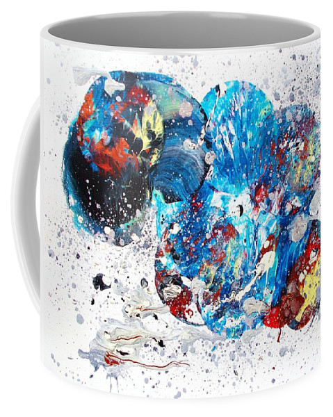 Original Coffee Mug featuring the painting Celestial Chaos by Roberto Prusso