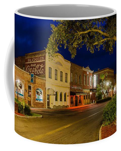 Downtown Amelia Island Coffee Mug featuring the photograph Centre Street Downtown Fernandina Florida by Dawna Moore Photography