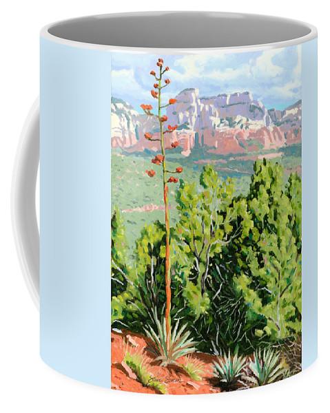 Century Plant Coffee Mug featuring the painting Century Plant - Sedona by Steve Simon