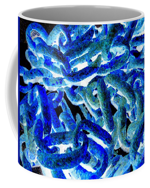 Chains Coffee Mug featuring the photograph Chain Reaction by Ed Weidman
