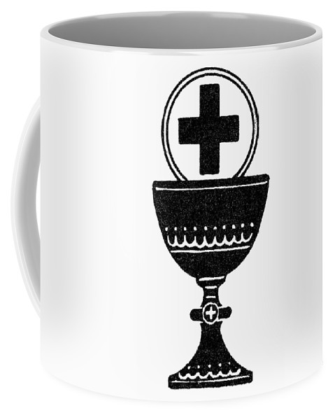 Chalice Coffee Mug featuring the painting Chalice And Cross by Granger