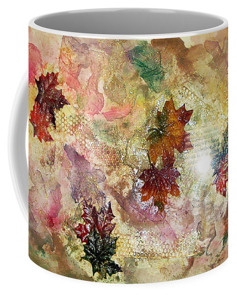 Water Color Abstract Coffee Mug featuring the mixed media Change In You II by Yael VanGruber