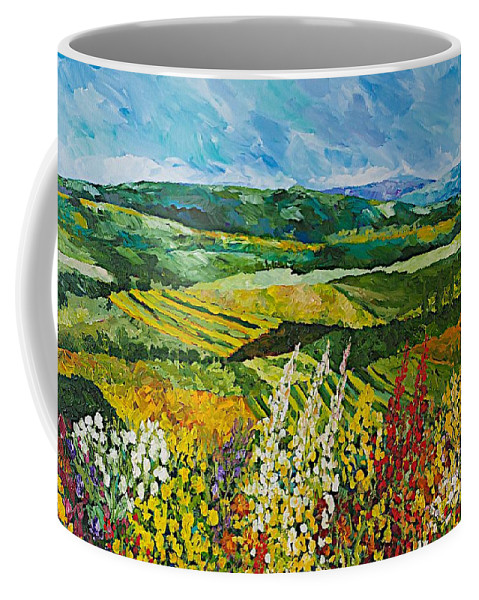 Landscape Coffee Mug featuring the painting Change Is In The Air by Allan P Friedlander