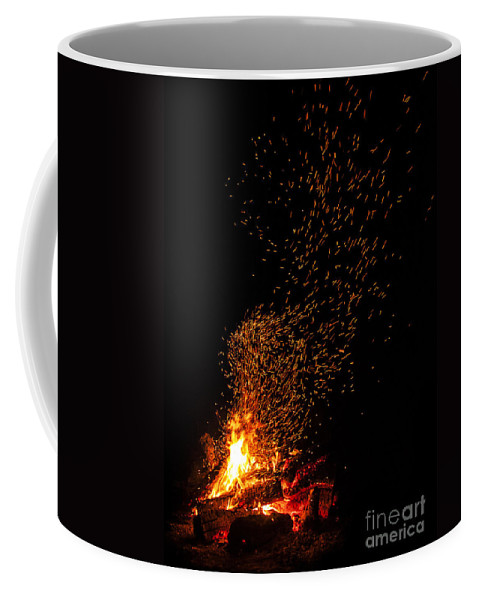 Fire Coffee Mug featuring the photograph Channeling Van Gogh by Andrea Goodrich