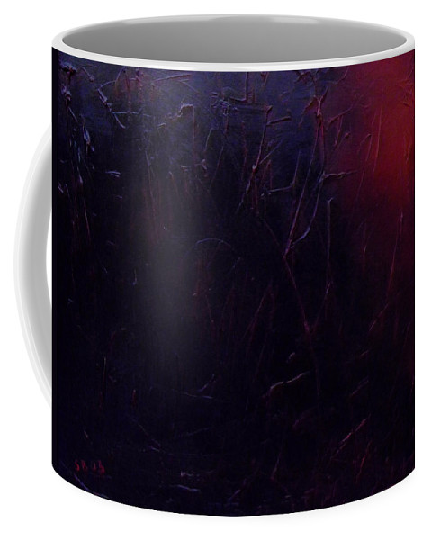 Abstract Coffee Mug featuring the painting Chaos by Sergey Bezhinets