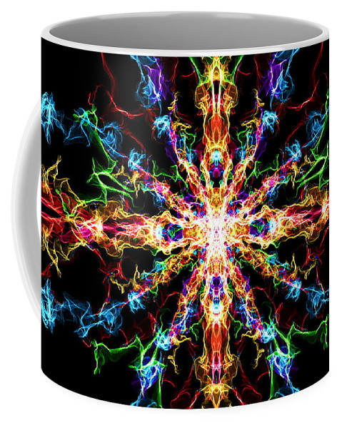 Chaos Coffee Mug featuring the digital art Chaos Star by April Patterson