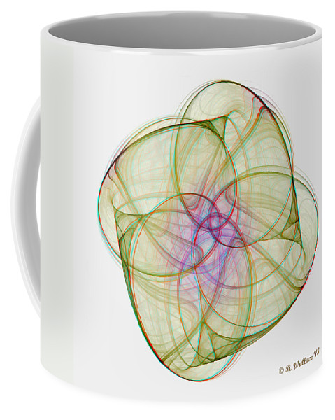 3d Coffee Mug featuring the digital art Chaoscope Abstract 3d Stereo - Use Red-cyan Filtered 3d Glasses by Brian Wallace