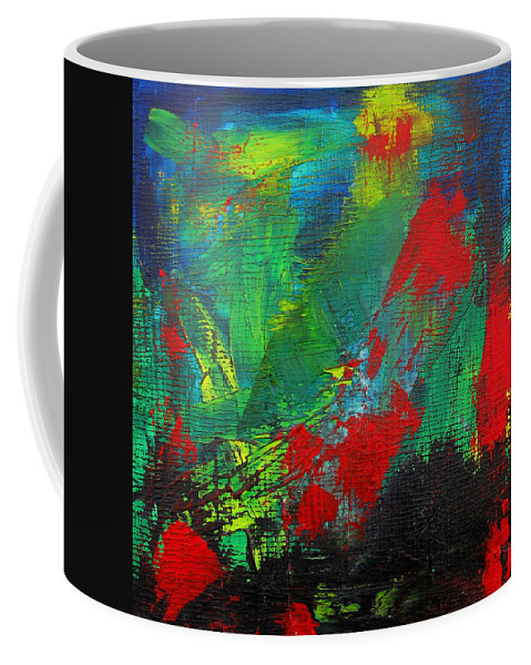 Art Coffee Mug featuring the painting Chaotic Hope by Patricia Awapara