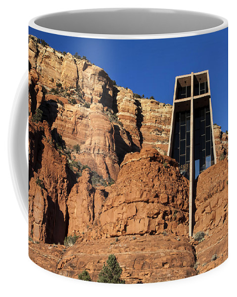 Fred Larson Coffee Mug featuring the photograph Chapel Of The Holy Cross by Fred Larson