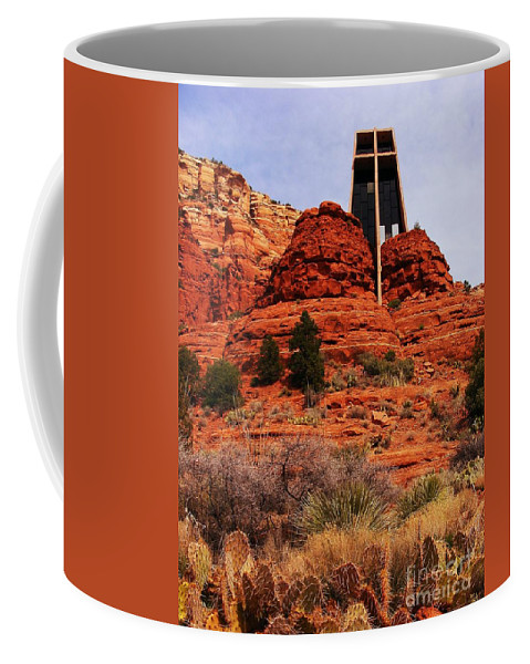 Chapel Coffee Mug featuring the photograph Chapel Of The Holy Cross 3 by Marilyn Smith