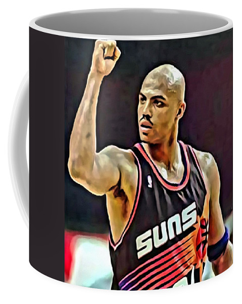 Charles Barkley Coffee Mug featuring the painting Charles Barkley by Florian Rodarte
