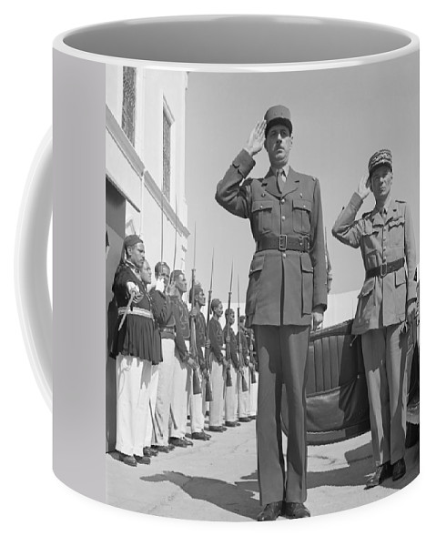 1943 Coffee Mug featuring the photograph Charles De Gaulle In Carthage Tunisia 1943 by Mountain Dreams