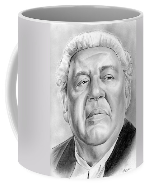 Charles Laughton Coffee Mug featuring the drawing Charles Laughton by Greg Joens