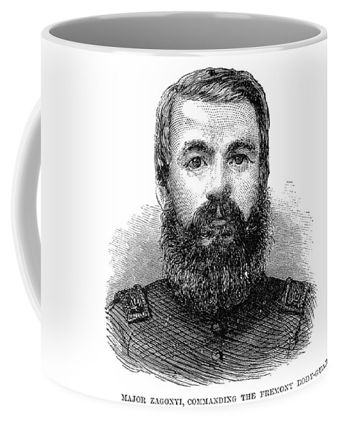 1862 Coffee Mug featuring the painting Charles Zagonyi (1826-?) by Granger