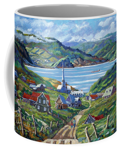 Coffee Mug featuring the painting Charlevoix Scene by Richard T Pranke