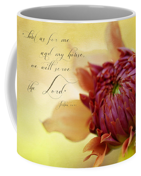 Bloom Coffee Mug featuring the photograph Charmed With Bible Verse by Beve Brown-Clark Photography