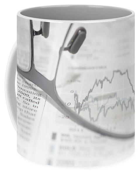 Finance Coffee Mug featuring the photograph Chart by Mats Silvan