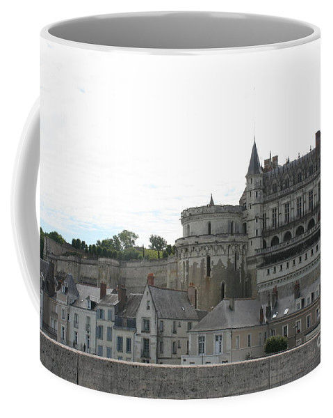 Palace Coffee Mug featuring the photograph Chateau Ambois Rises Above Its Town by Christiane Schulze Art And Photography