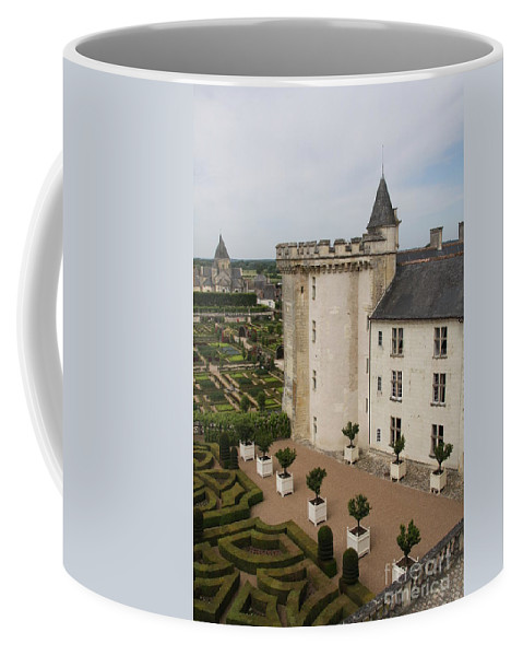 Palace Coffee Mug featuring the photograph Chateau And Garden - Villandry by Christiane Schulze Art And Photography