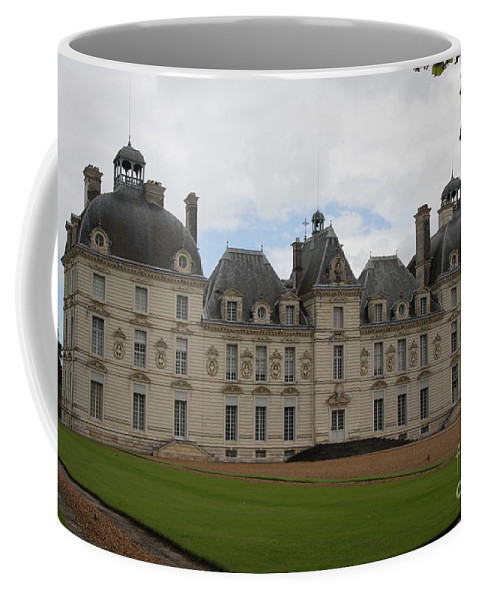 Palace Coffee Mug featuring the photograph Chateau Cheverney - Front View by Christiane Schulze Art And Photography
