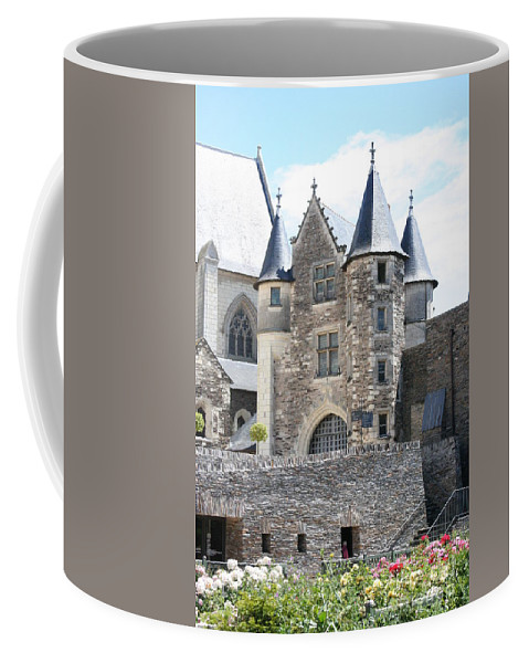 Castle Coffee Mug featuring the photograph Chateau D'angers - Chatelet by Christiane Schulze Art And Photography
