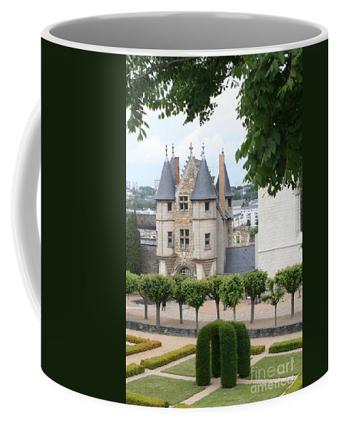 Castle Coffee Mug featuring the photograph Chateau D'angers - Chatelet View by Christiane Schulze Art And Photography