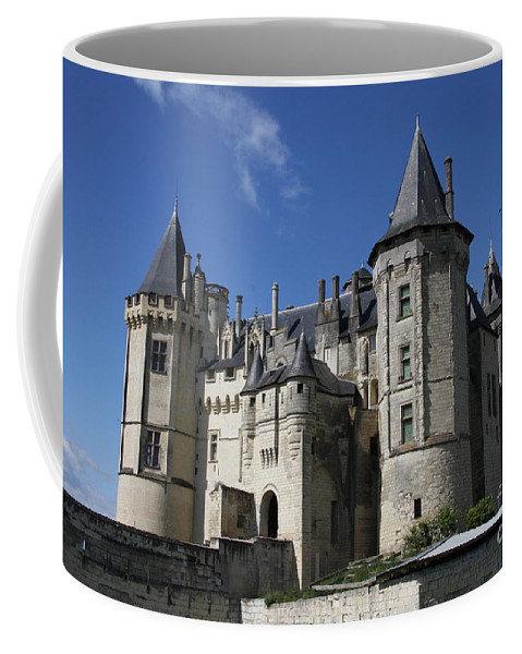 Castle Coffee Mug featuring the photograph Chateau De Saumur by Christiane Schulze Art And Photography