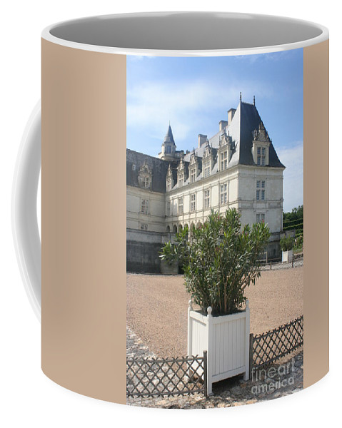 Palace Coffee Mug featuring the photograph Chateau Villandry View by Christiane Schulze Art And Photography