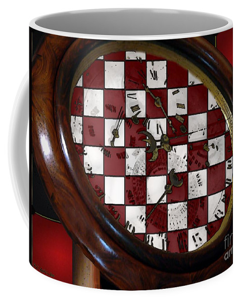 Antique Coffee Mug featuring the painting Checkmate by RC DeWinter