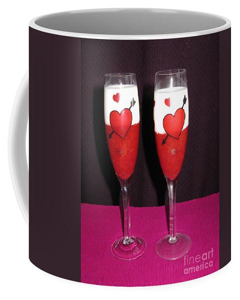Strawberry Dessert Coffee Mug featuring the photograph Cheers My Love 01 by Ausra Huntington nee Paulauskaite