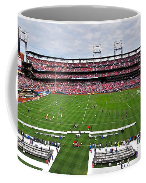 Soccer Coffee Mug featuring the photograph Chelsea Vs Manchester City At Busch by C H Apperson