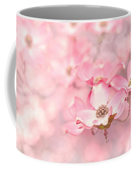 Dogwood Coffee Mug featuring the photograph Pink Dogwood Blossoms by Debi Bishop