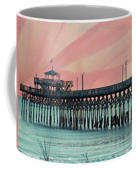 Cherry Grove Coffee Mug featuring the photograph Cherry Grove Fishing Pier by Trish Tritz