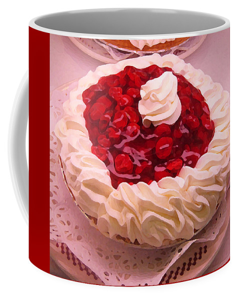 Still Life Coffee Mug featuring the painting Cherry Pie With Whip Cream by Amy Vangsgard