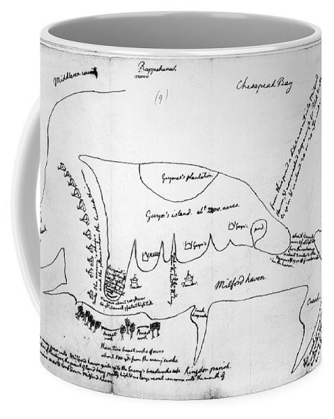 1776 Coffee Mug featuring the photograph Chesapeake Bay, 1776 by Granger