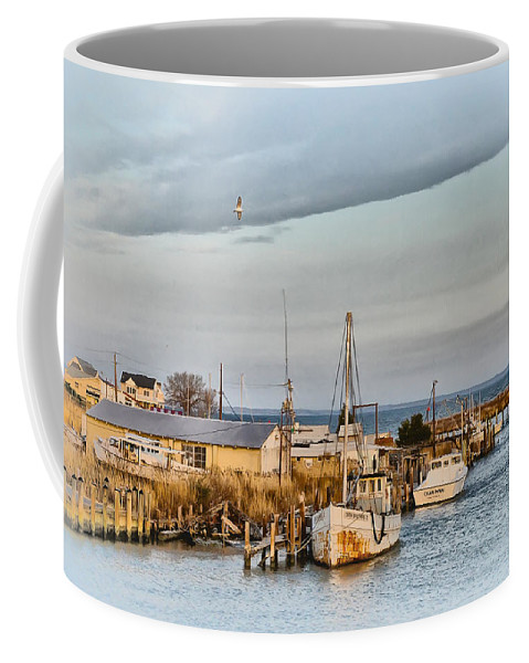 Chesapeake Coffee Mug featuring the photograph Chesapeake Fishing Boats by Bill Cannon