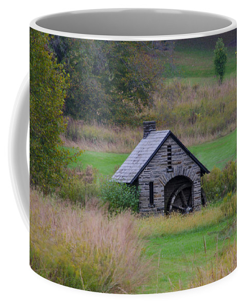 Chestnut Coffee Mug featuring the photograph Chestnut Hill Autumn by Bill Cannon